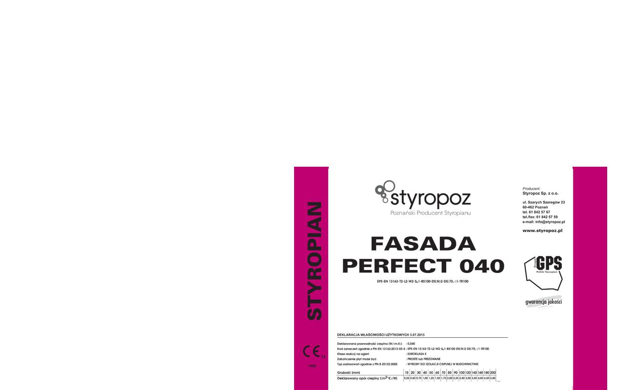 STYROPOZ - Poznański Producent Styropianu - FASADA PERFECT 040