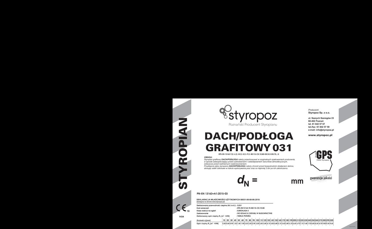 STYROPOZ - Poznański Producent Styropianu - DACH/PODŁOGA SPECJAL 80
