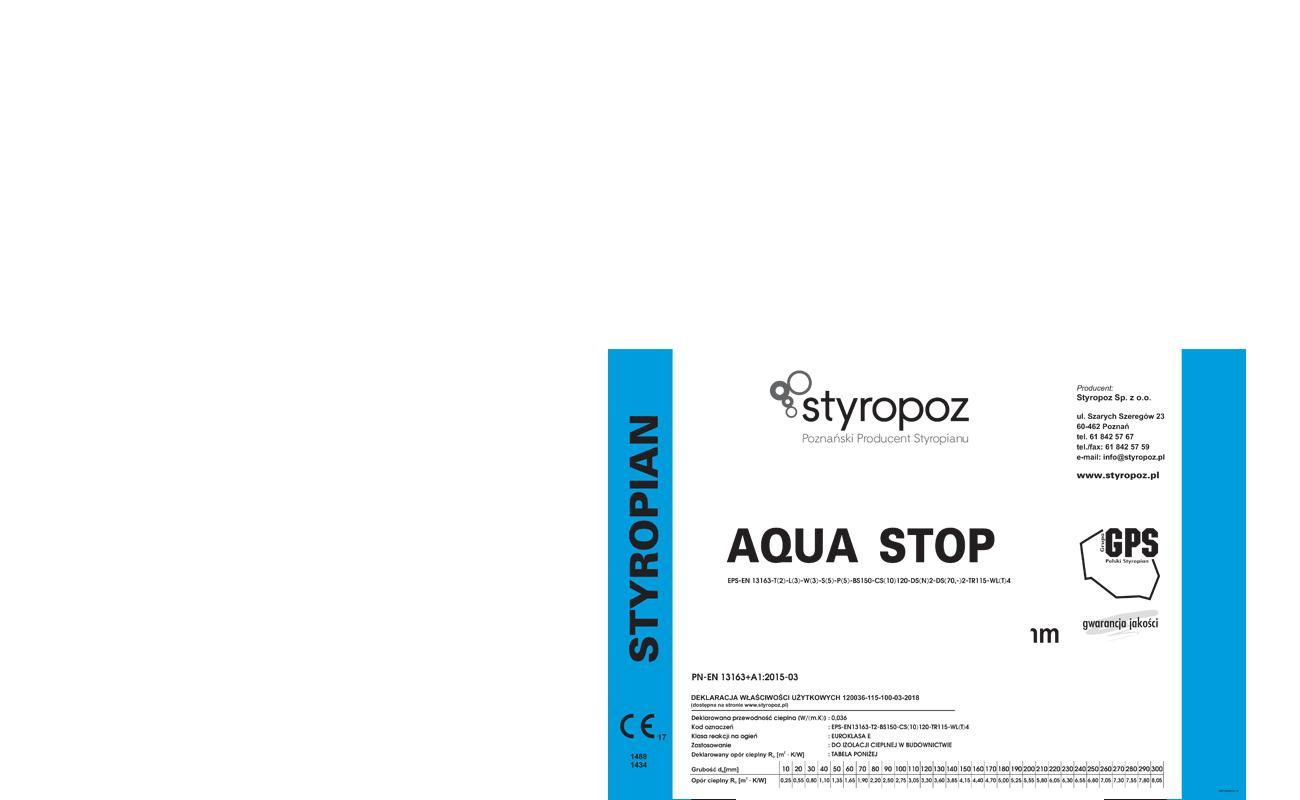 STYROPOZ - Poznański Producent Styropianu - AQUA STOP 120