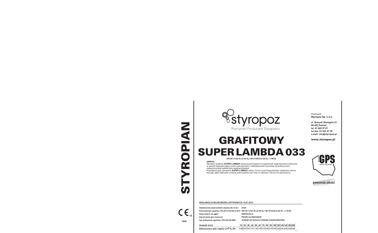 STYROPOZ - Poznański Producent Styropianu - PRODUKTY